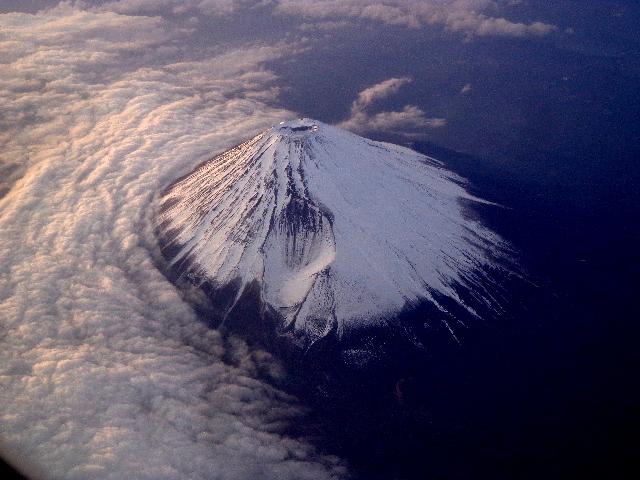 United Airlines (NRT-HKG)- Mt. Fuji