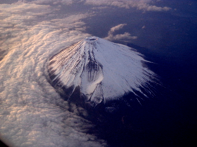 United Airlines (NRT-HKG)- Mt. Fuji