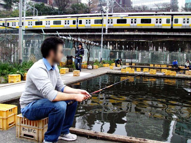 Tokyo, Ichigaya - Fishing Pond