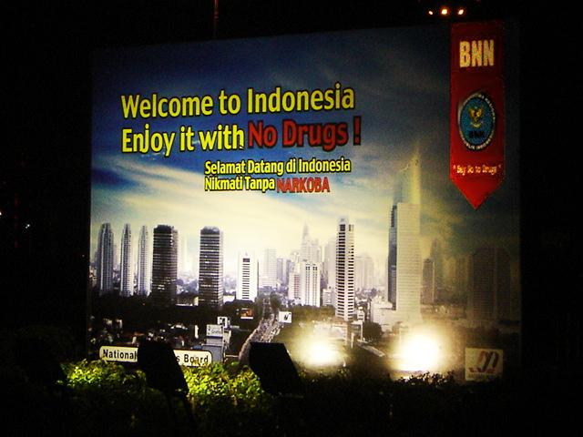 Jakarta - No Narkoba Sign