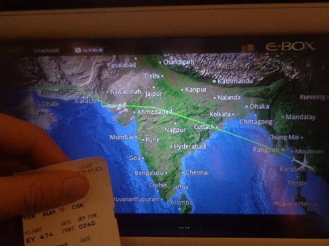 Etihad, Abu Dhabi AUH - Bangkok BKK - Jakarta CGK