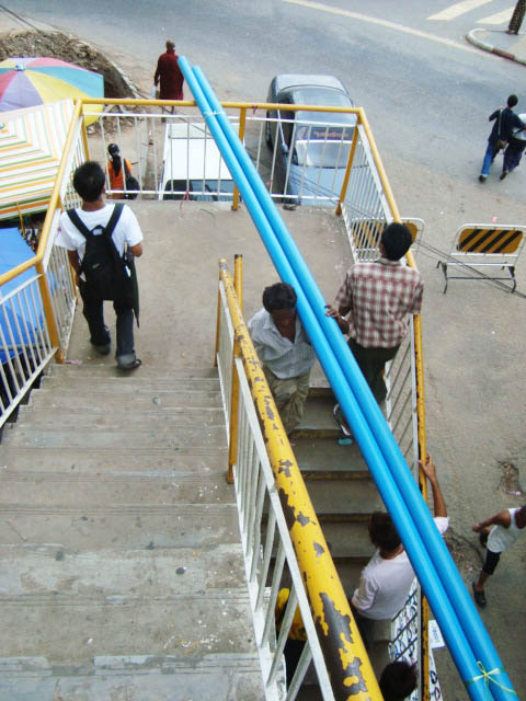 Yangon, Myanmar - Carrying Poles