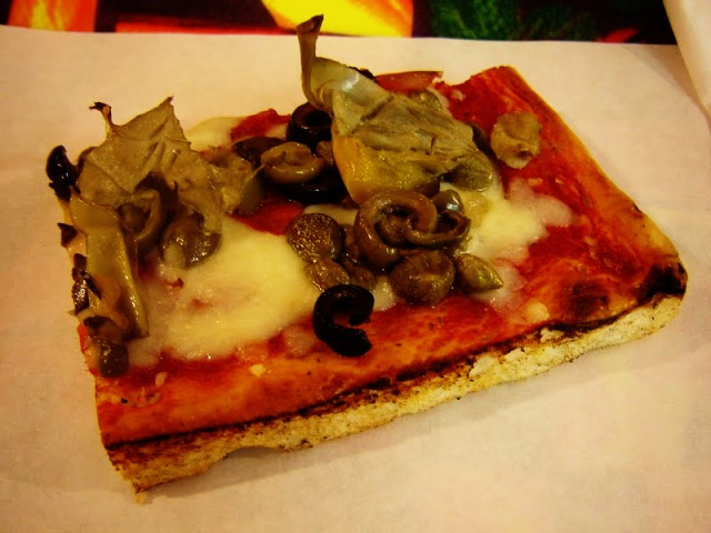 Florence, Olive Artichoke pizza