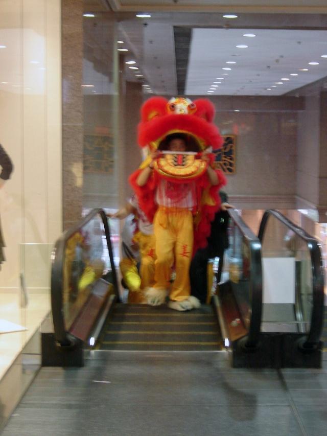 Hong Kong- New Year's Escalator Dragon