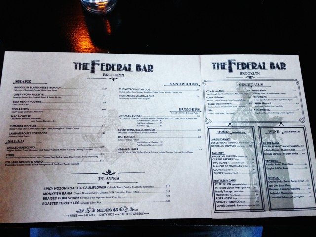 The Federal Bar, Williamsburg, Brooklyn, NYC (2)
