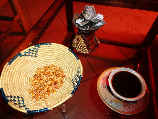 Addis Ababa, Ethiopia - Kolo (Barley) and Coffee