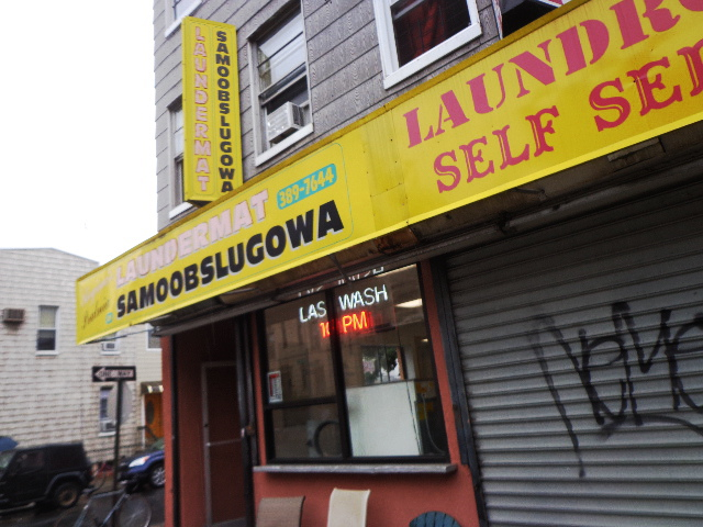 Greenpoint, Brooklyn, New York City, USA- Samoobslugowa (Polish) Laundromat