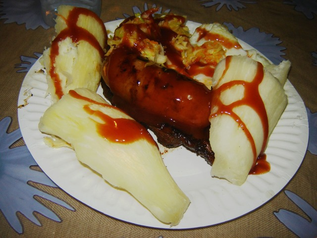 Nadi, Fiji - Cassava, Longaniza and Cabbage BBQ