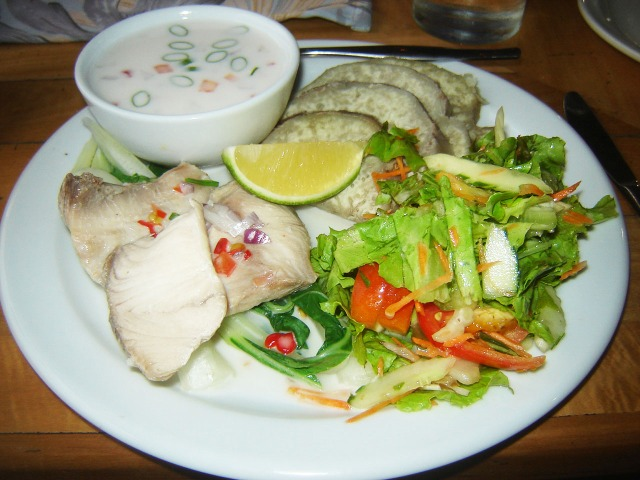 Suva, Fiji - Kokoda (Dorado with Coconut Cream) and Lettuce