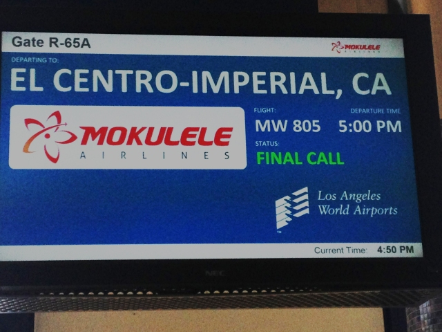 5JUN 2016 Mokulele Airlines Los Angeles (LAX) to Imperial County-El Centro (IPL) (4)