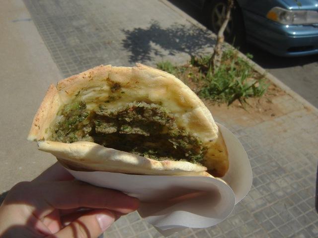 Beirut, Lebanon - Khubz with Zaatar